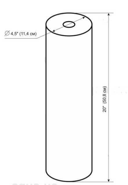 """Картридж умягчающий (катионитовая смола) BIO+ SYSTEMS GAC-20L для колбы BigBlue 20"""""""