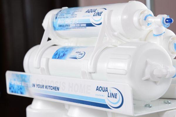 Фильтр обратного осмоса Aqualine RO-6 P МТ18 с минерализацией и помпой