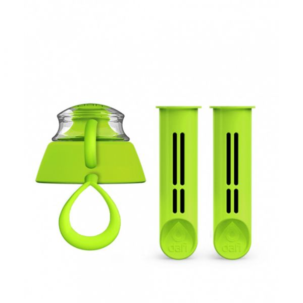 Set of 2 Dafi bottle filters and a bottle cap лайм