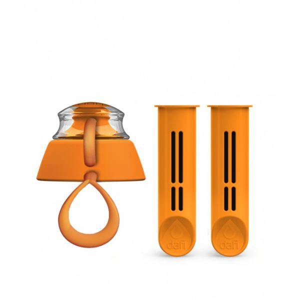 Фильтры для бутылок и крышка от бутылки Set of 2 Dafi мандарин