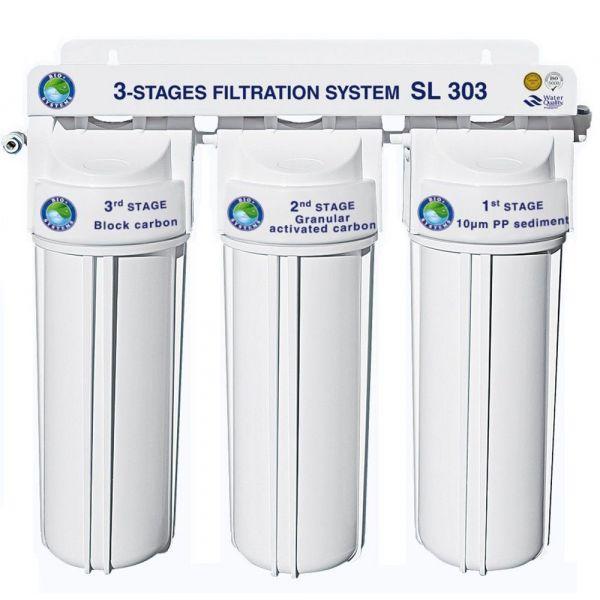 Фильтр под мойку 3-х ступенчатой очистки Bio+ systems SL303-NEW