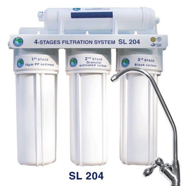 Фильтр под мойку 4-х ступенчатой очистки Bio+ systems SL204-NEW