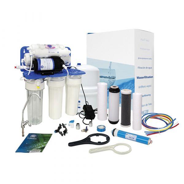 Фильтр обратного осмоса с помпой Aquafilter RO5 + pump