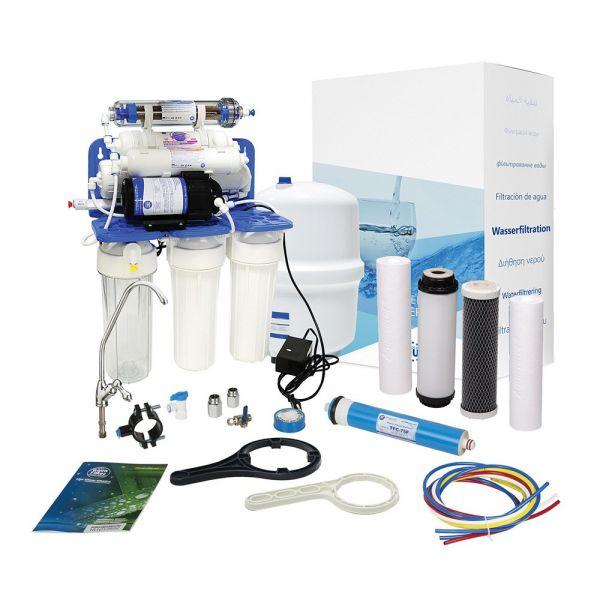 Фильтр обратного осмоса с помпой Aquafilter RO7+pump