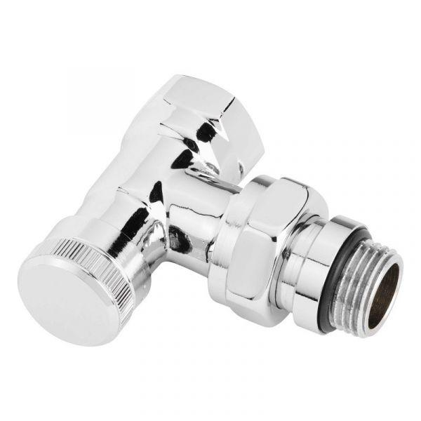 Запорный клапан Danfoss RLV-CX, угловой, хром