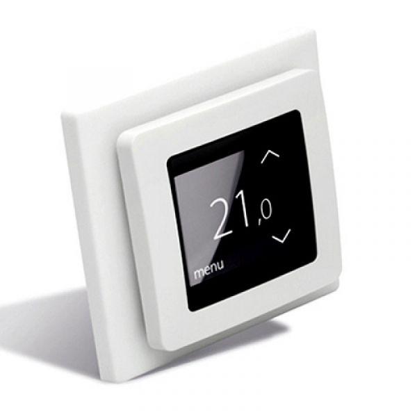 "Терморегулятор DEVIreg Touch, сенсорный, 2"" экран, 85 х 85мм, макс. 16A, белый"