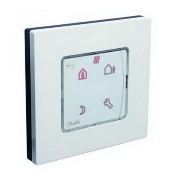 Терморегулятор Danfoss Icon Programm, электронный, сенсорный, программируемый, 230V, On-wall, белый
