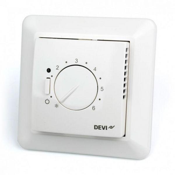 Терморегулятор Devireg 527 без датчика температуры, пропорциональное управление, 15А, белый