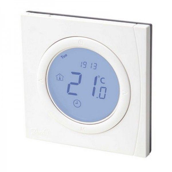 Терморегулятор Danfoss BasicPlus2 WT-D 5-35, электронный, 230V, 86 х 86мм, In-Wall, белый