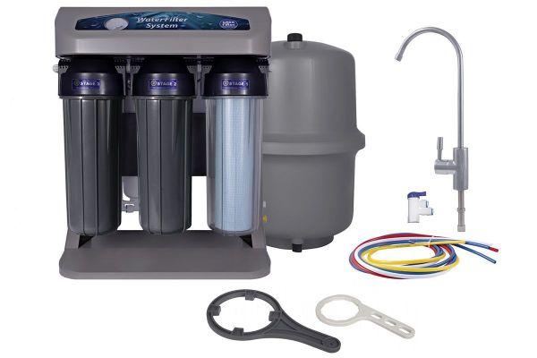 Cистема обратного осмоса Aquafilter AIFIR2000 с помпой, манометром и ионизатором