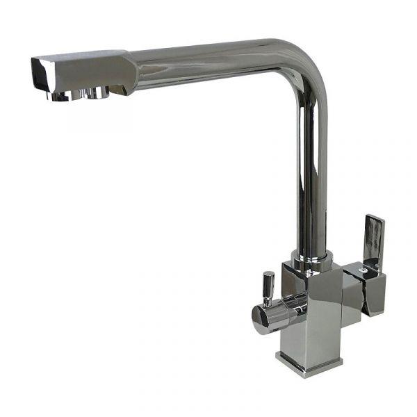 Смеситель кухонный Globus Lux LAZER GLLR-0100 CHROM комбинированный