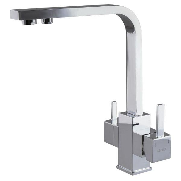Смеситель кухонный Globus Lux LAZER GLLR-0111 CHROM комбинированный