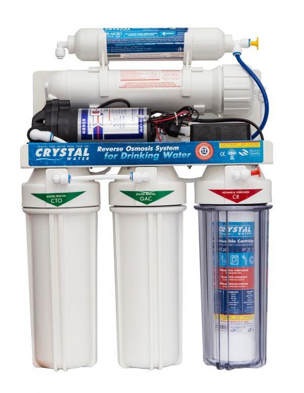 Фильтры обратного осмоса с помпой CRYSTAL CFRO-550P